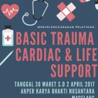 PELATIHAN BASIC TRAUMA CARDIAC & LIFE SUPPORT (BTCLS) TAHUN 2017